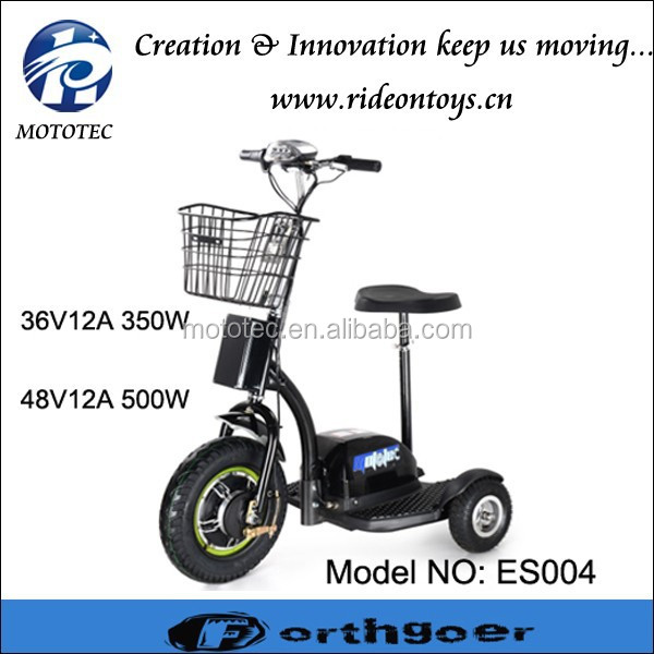 3 wheel electric bike 500w hub motor three wheel scooter