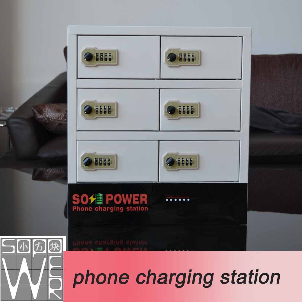 2015 new arrival smart locker phone charging station 18350 battery charger
