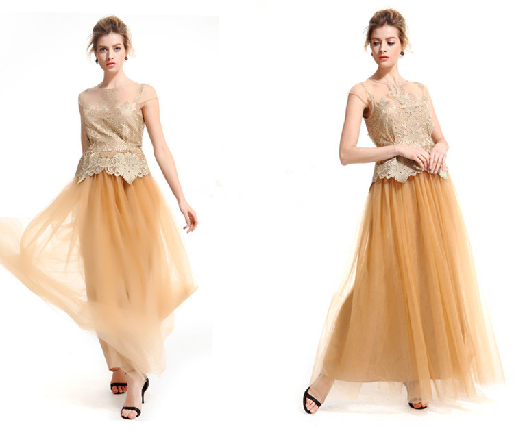 Elegant Black and Gold Long Maxi Prom Dress Hot Wholesale Cheap Price