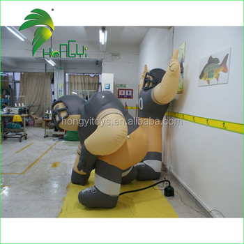 Oxford Cloth Soccer Match Display Promotional Inflatable Player Character Model