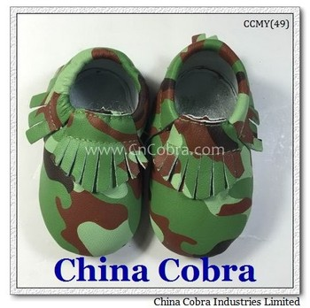 soft sole leather baby moccasins shoes leather moccasins slippers CHINA COBRA