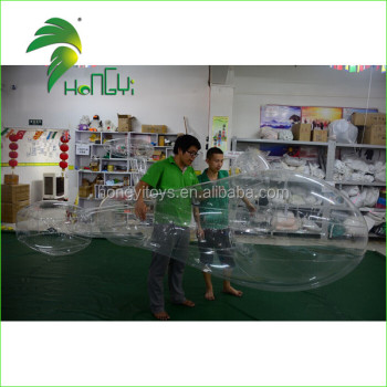 Transparent PVC Inflatable Jet Swimming Pool Floats, PVC Inflatable Airplane Water Toy