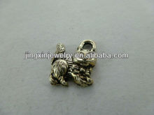 Wholesale Fortune Cat Pendants Animal Accessories Alloy Earring Charms