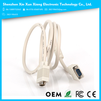 High Quality HD15 3+4 VGA Cable nickel Plated VGA Cable with Ferrite 1.5m