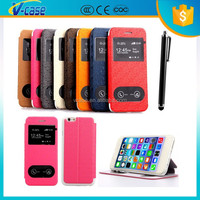 Touch screen TPU and PU leather case for apple iphone 6 ,case for apple iphone 6