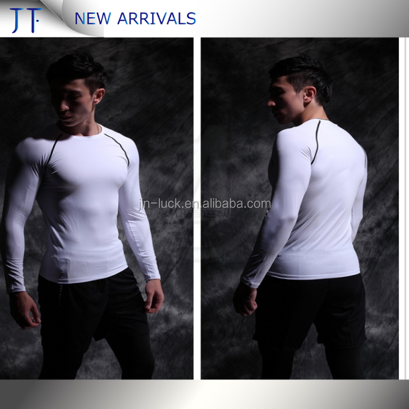 2017 Latest Custom Mens Top Wholesale Skin Tshirt Mens Shirt Garments Clothing Compression Wear