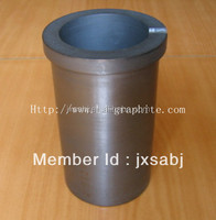High Pure 8Kg fine particle graphite cruciblle for metal melting Graphite melting crucible for melting furnace