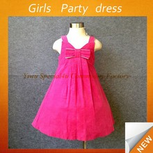Children hot pink party wear ball gown baby birthday dresses baby dress pictures SPSY-749