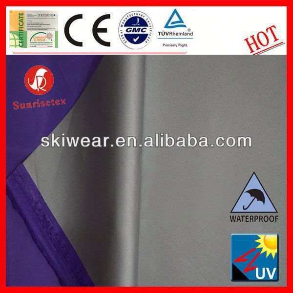 Eco-friendly 100% Polyester silver coating roller blind fabric for Outdoor Jackets