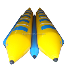 2016 hot summer water sports 12 persons plastic inflatable banana boat for sale
