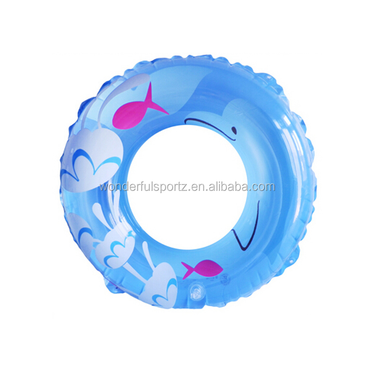 Baby inflatable swimming arm rings with full color logo printing