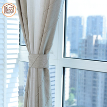 Solid thermal imitation linen curtain drapery collection window linen curtain for home decor