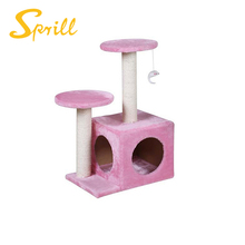 SPRILL Cat Tree Scratcher Play House Condo Furniture Bed Post Pet House