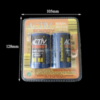 Disposable Heat Seal Plastic Battery Packaging