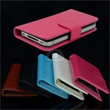leather flip case for samsung wave 3
