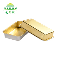 Aviation food packaging airline aluminum foil container with lid
