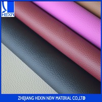Hot selling fullness hand feeling emboss pu leather for sofas and car seats