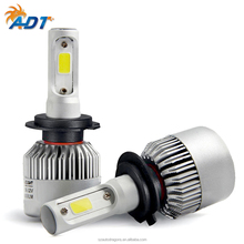 72W 8000LM S2 H7 COB LED Headlight 6500k Hi-Lo Beam Car LED Headlights Bulb Head Lamp Fog Light 12V Auto Accessories Parts h4