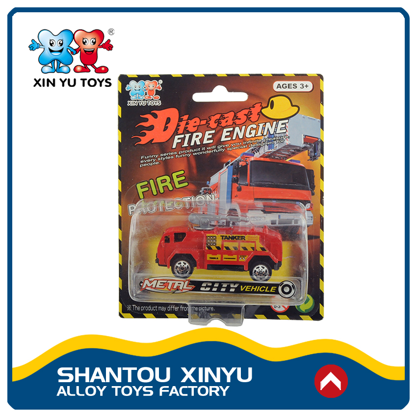 Top selling diecast fire truck custom made model cars for child