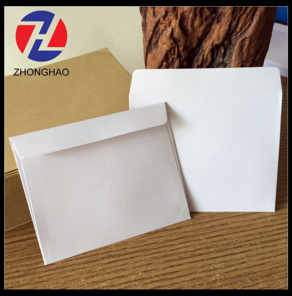 2015 new arrived plain machine made brown white craft recycled durable paper envelope
