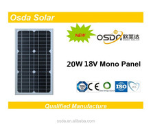 Photovoltaic 20W Mono Osda Solar Panel price per watt solar panels
