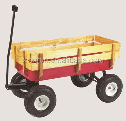 four wheel foldable garden wagon tool cart beach wagon beach cart