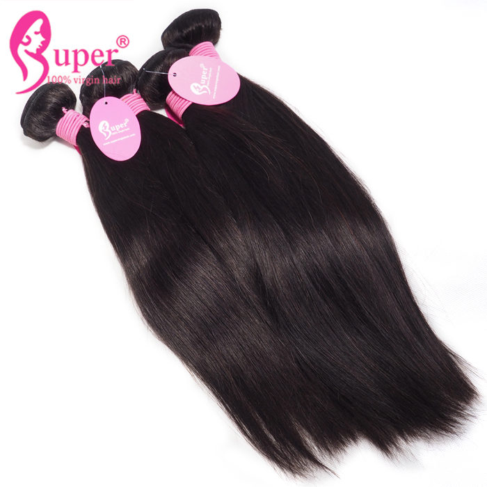 Cheap Human Brazilian Straight China Hair Bundle With Closure 4x4 Textured Extensions Sale