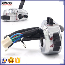 BJ-SW-002 Aftermarket Waterproof 12V Custom Universal Chrome Motorcycle Handlebar Switch