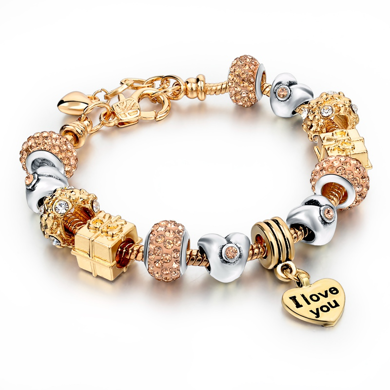 wholesale gold bracelet charm bead bracelet <strong>jewelry</strong>