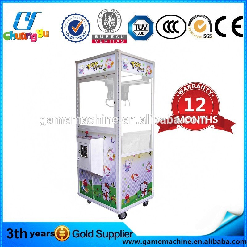 click me! 2014 hot simulator toy crane game machine high quality mini crane claw machine 2016 Amusement gift crane machine