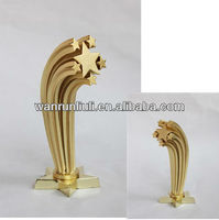 Beautiful special design five star metal trophy cup