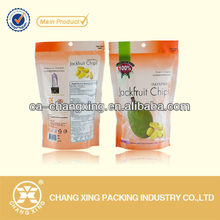 hermetically sealed doypack standing plastic jackfruit chips bag