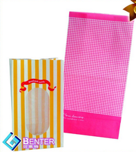Hot sales food paper bag with clear window
