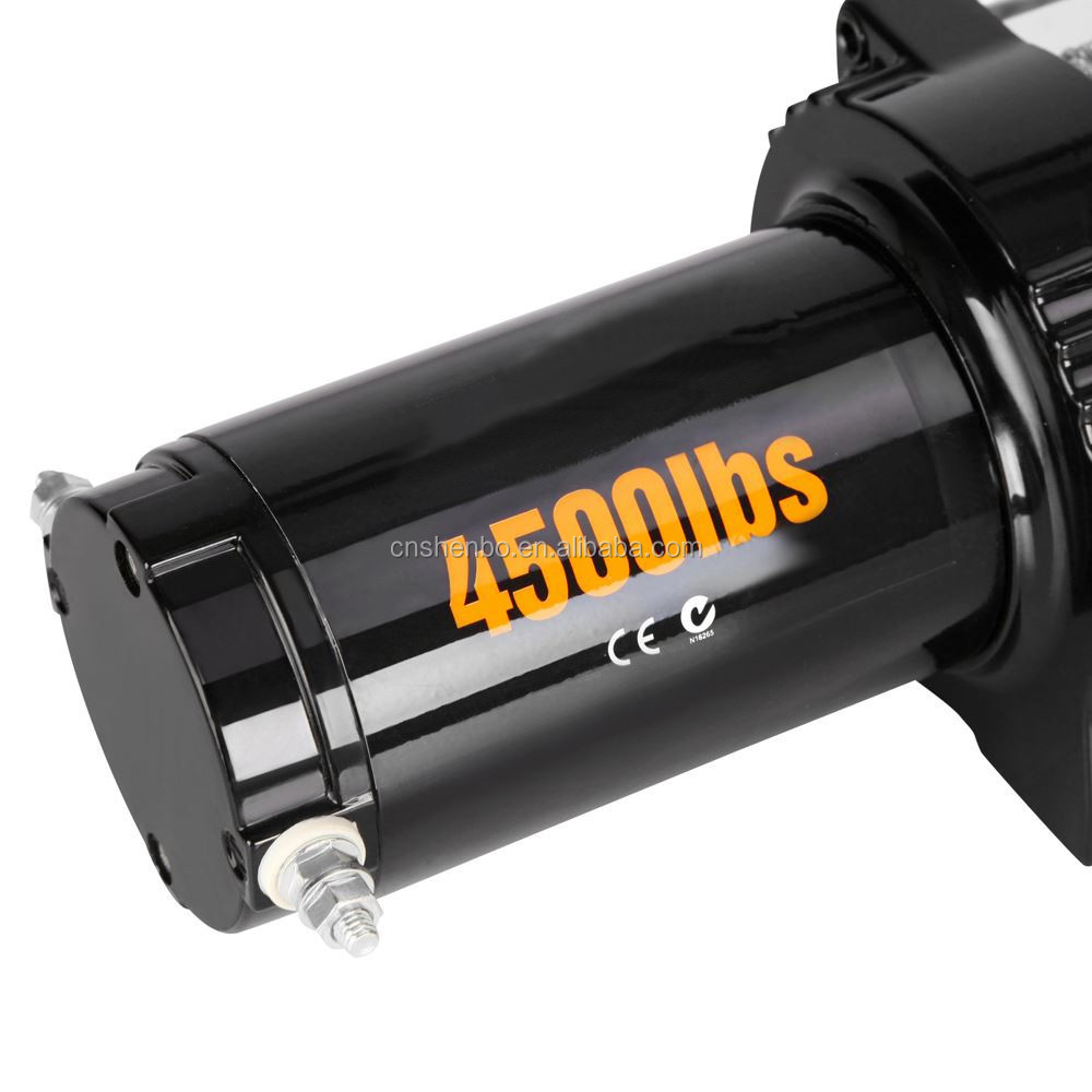 4500lbs recovery tools electric winch with 12 volt motor