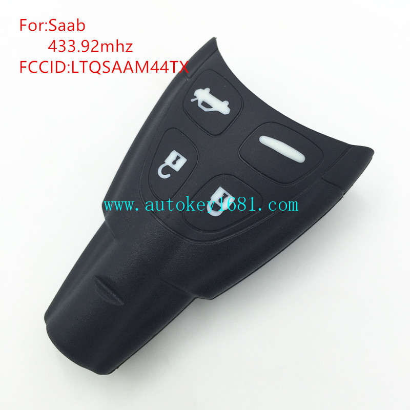 car key 4 button remote key 433.92mhz pcf7946 for saab samrt card 93 93SS 93SC 9440