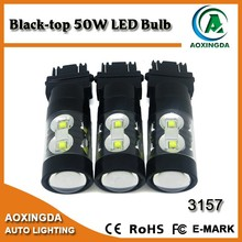 black top LED auto lighting bulb 80W 50W 3157 1156 1157 T20