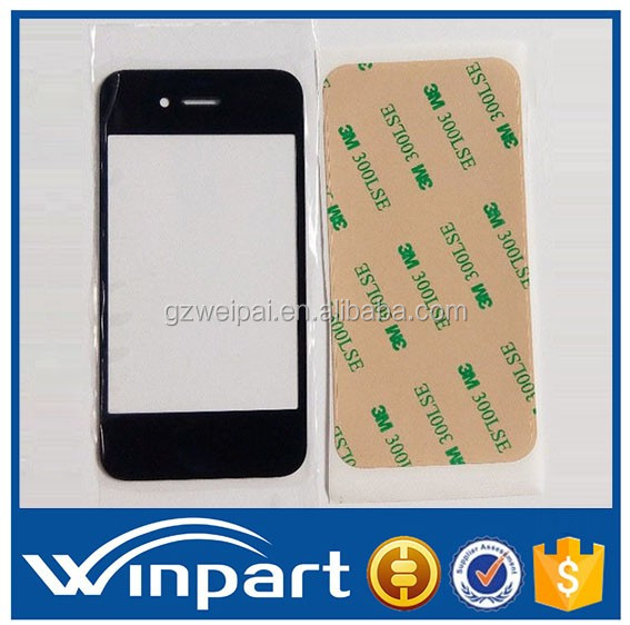[win part]China HOT Grade A quality Replacement LCD Touch Panel Screen Outer Glass For Apple iPhone 4 4S 4G Front Panel Screen