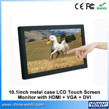 10 inch Touch Screen Monitor 12 volt dc LCD with VGA DVI