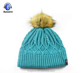 wireless winter hats with pom poms