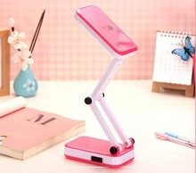 Foldable LED desk lamp, built-in rechargeable battery, easy to operate use