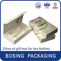 wholesale olive oil box with handle for two bottles