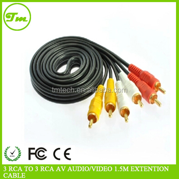 1.5M 3 RCA TO 3 RCA AV AUDIO/VIDEO EXTENSION CABLE