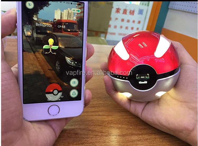 Hot Selling 2016 World Top Game Pokemon Go Pokeball pokemon go plus Power Bank charger