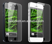 0.26mm 2.5D tempered glass screen protector for iphone 5