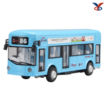 pull back function diecast toy bus model in 1 36 scale