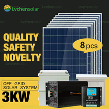 China professional off grid solar power panel system 3000w for home