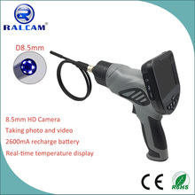 4X image zoom high temperature protection 8.5mm probe flexoscope videoscope borescope for industrial inspection