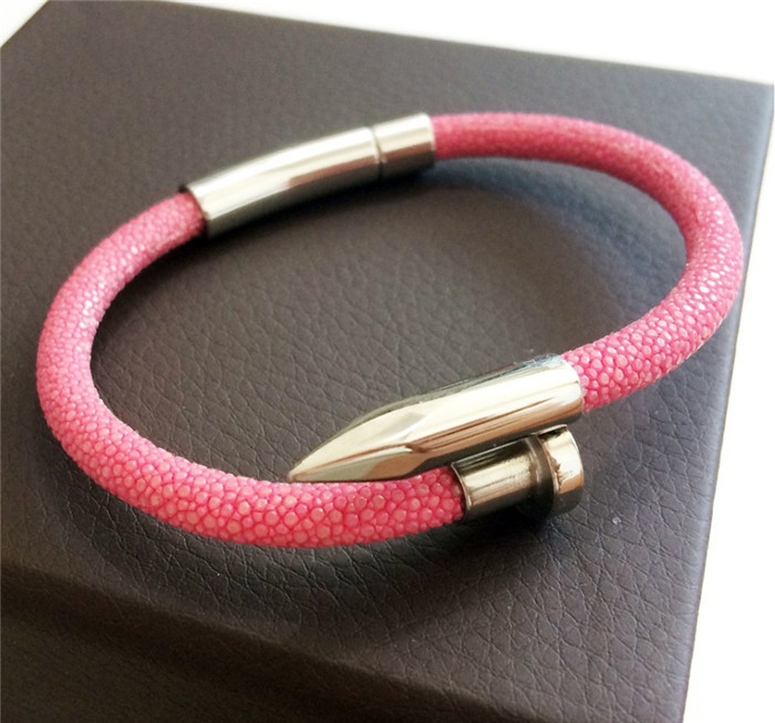 Best Sale Luxury Genuine Stingray Leather Bracelet _7
