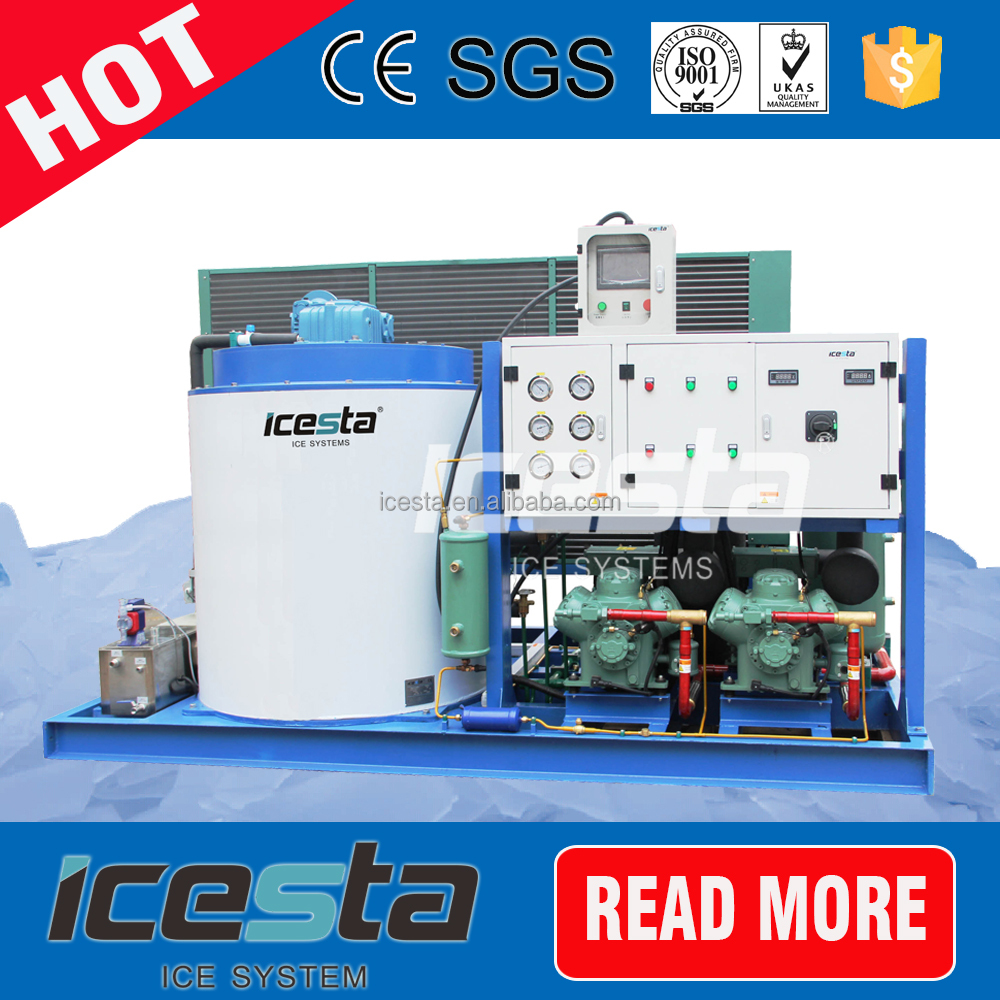 container snow flake industrial ice making machine picture