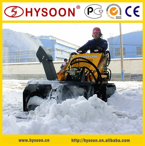 China Utility Vehicle Mini Skid Steer loader with Snow Blower
